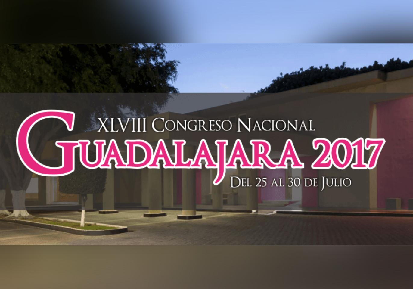 Convocatoria XLVIII Congreso Nacional Guadalajara 2017.
