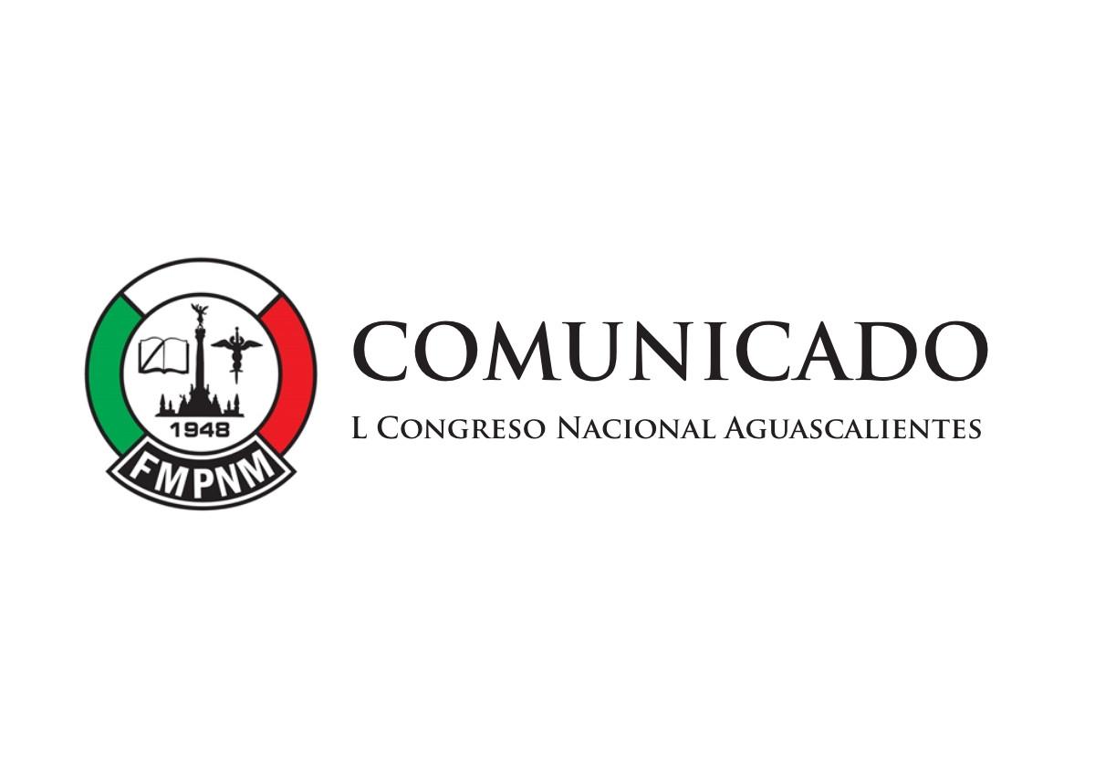 Comunicado sobre el L Congreso Nacional Aguascalientes 2019