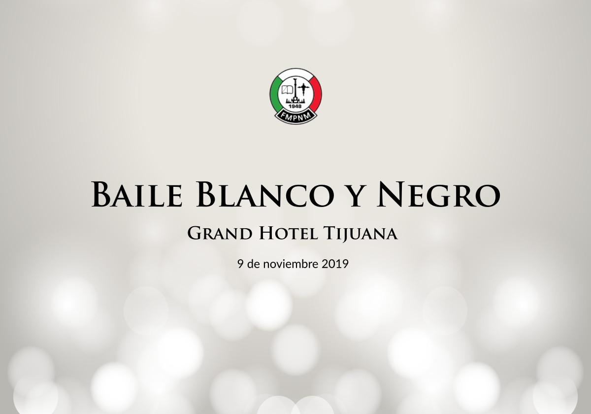 Asiste al Baile Blanco y Negro
