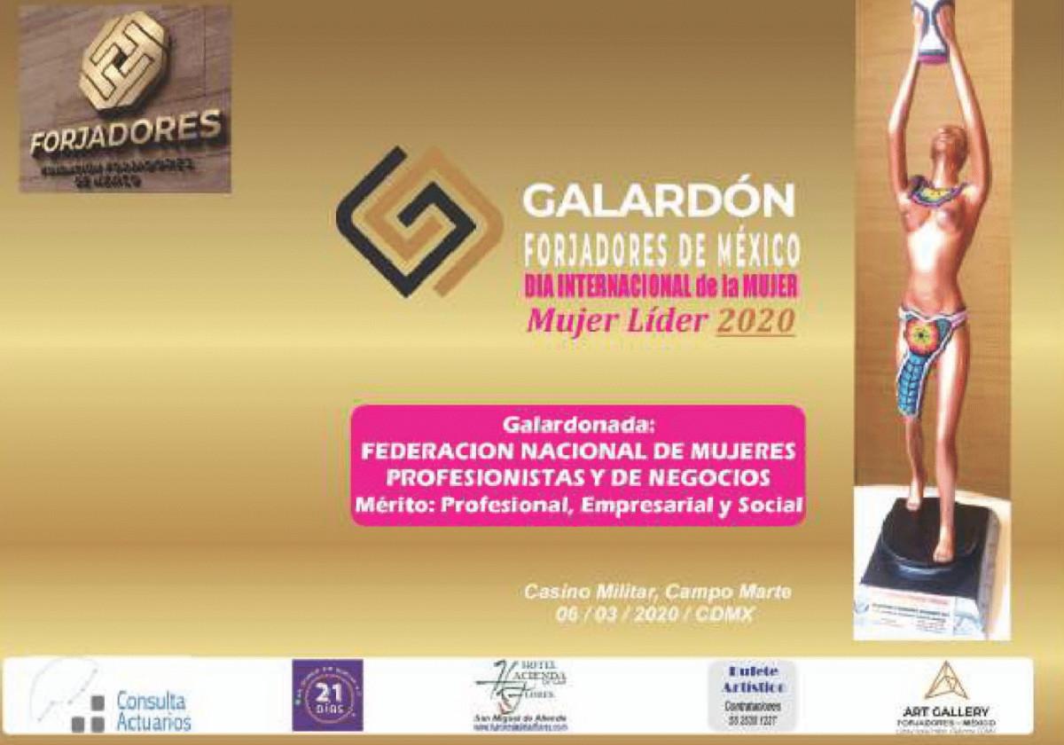 Galardón Forjadores de México al mérito Profesional, Empresarial y Social